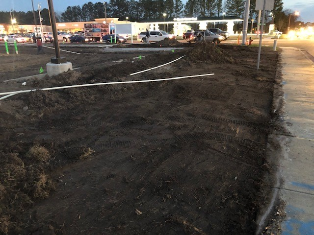 2264 - Herritage Retail Center - Irrigation lines and grading - 02.26.2019